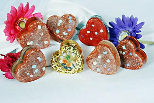 Daisy, Stone, Hearts, Decor, Flowers, Gems, Gemstones