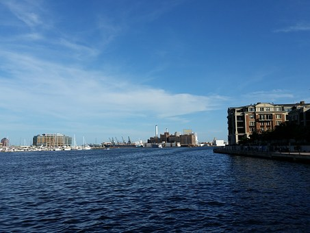 Baltimore, Inner Harbor, Harbor, Boat, Water, Dock