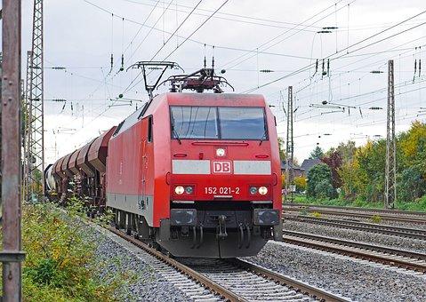 Freight Train, Deutsche Bahn, Exit, Marshalling Yard