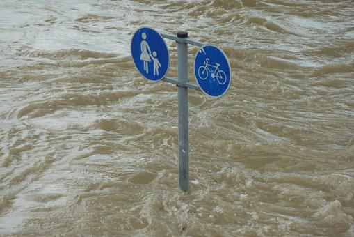 High Water, Shield, Setting, Water, Flooding, Flooded