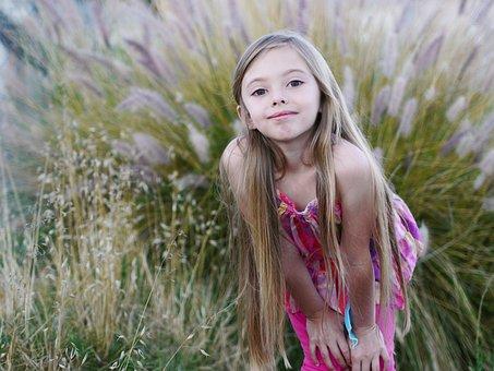 Girl, Kid, Adorable, Cute, Long, Blonde, Hair, Flowers
