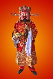 God Of Prosperity, Chinese New Year, Gold, Prosperity
