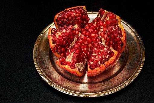 Pomegranate, Fruit, Healthy, Ripe, Juicy, Eating, Sweet