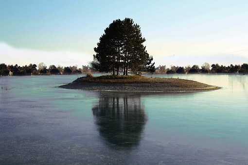 Water, Lake, Tree, Badesee, Stretch, Summer, Graz