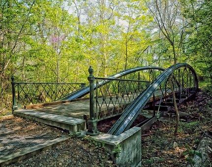 Bridge, Abandoned Road, Landmark, Historic, Nature