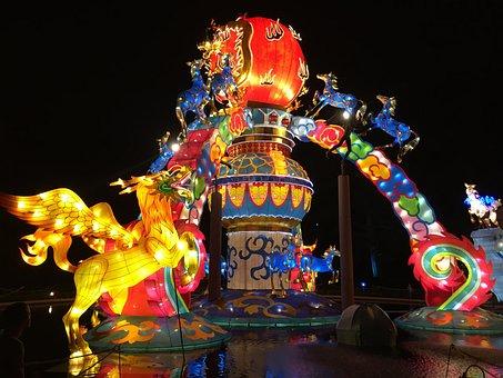 Lantern, Chinese, Chinese Lantern, Festival, China, Red