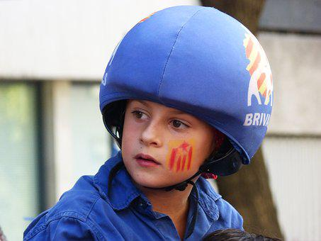 Catalunya, Enxaneta, Castells, Manifestation