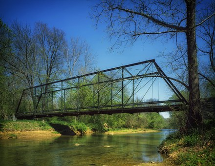 Catoctin Creek, Maryland, Bridge, Landmark, Stream