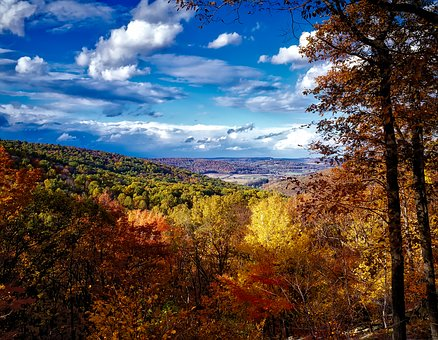 Catoctin Mountains, Sky, Clouds, Maryland, Fall, Autumn