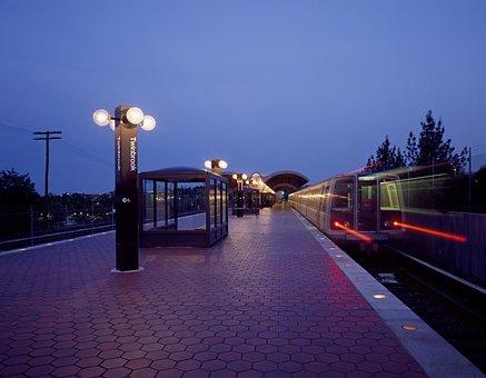 Metro Station, Train, Travel, Transportation, Speed