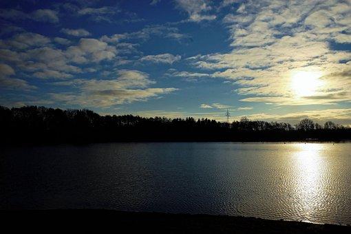 Sunrise, Lake, Stretch, Late Autumn, Cool, Mood