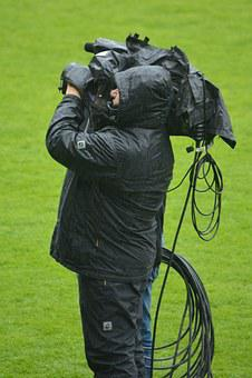 Man, Filming, Camera, Cameraman, Job, People, Rain