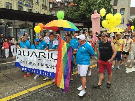 Fribourg, Switzerland, Pride, People, Gai, Lgbt