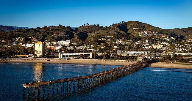Oxnard, California, Sea, Ocean, Pier, Hdr, Panorama