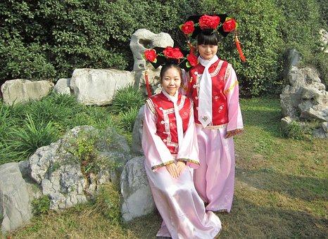 China, Girl, Ancient Royal Dress, Costume, Pink