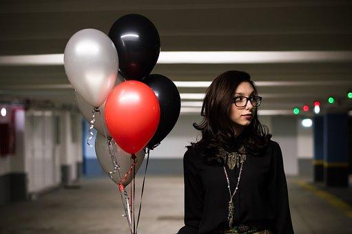 Balloons, Helium Balloons, Red Balloon, Parking
