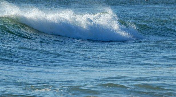 Wave, White Caps, Ocean, Saltwater, White, Sea