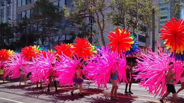 Gay Parade, San Francisco, Gay, Pink, Pride, Parade