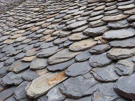Roof, Slate, Pyrenee Catalunya, Slate Shingles