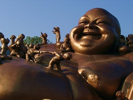 Bronze Statues, Buddha, พระ, Smile, Measure, Buddhism