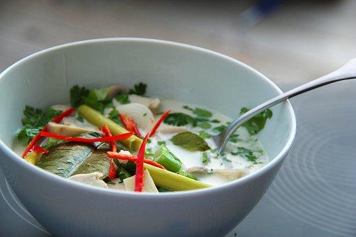 Tom Kha Gai, Soup, Asia, Thailand, Chili