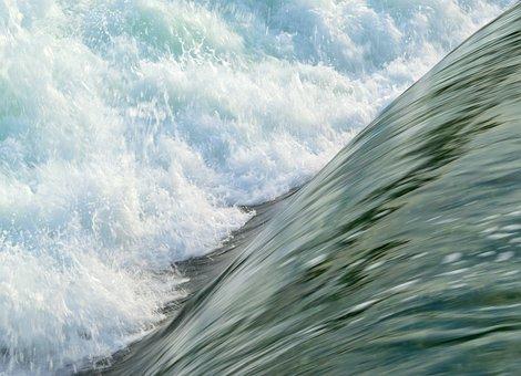 Rapids, Water, Turbulence, Flowing, Spray
