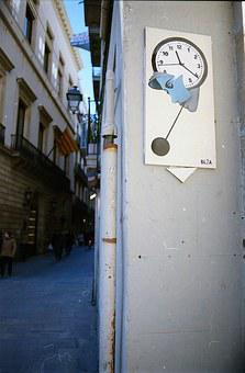 Street Art, Barcelona, Spain, Graffiti, Street, City
