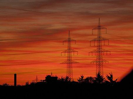 Afterglow, Evening, Red, Sun, Sunset, Beautiful, Sky