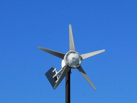 Anemometer, Wind, Blue, Measurement, Tool, Vane, Sky