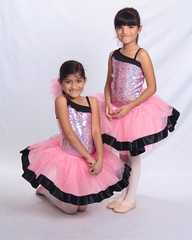 Dancer, Sisters, Cheeky, Twin, Dance, Girl, Dress