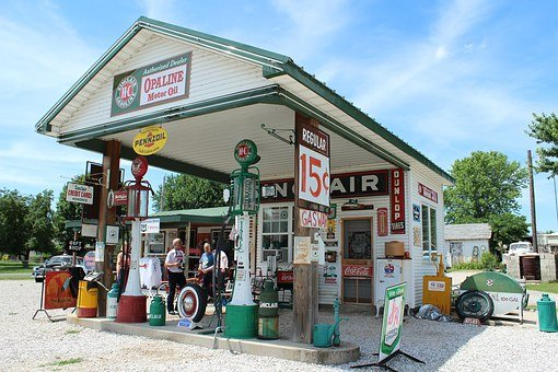 Route 66, Usa, Gas Station, Gay Parita