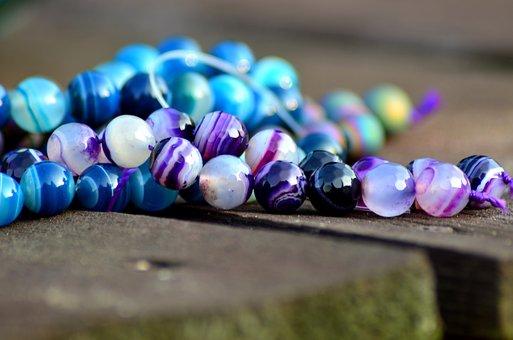 Agate, Druza, Summer, Handicraft, Violet, Blue, Stone