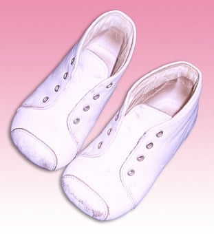 Baby Shoes, White, Shoes, Children's Clothing, Leather