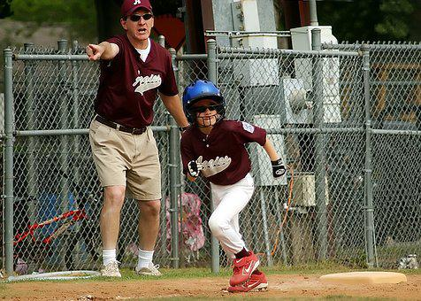 Baseball, Runner, Coach, Little League, Sport, Youth