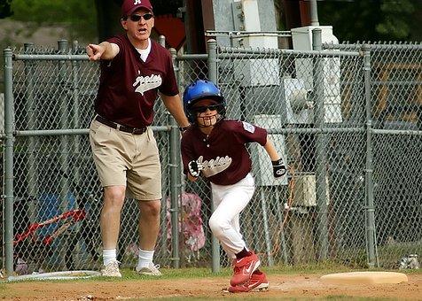 Baseball, Runner, Coach, Little League, Sport, Youth