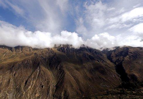 Top, Clouds, Mountains, A Mountain Range, Landscape