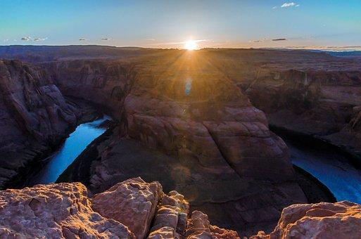 Horseshoe Bend, Arizona, Usa, National Park, Cliff
