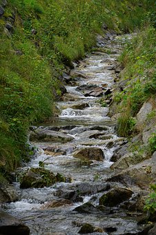 Bach, Mountains, Landscape, Nature, River, Creek, Water