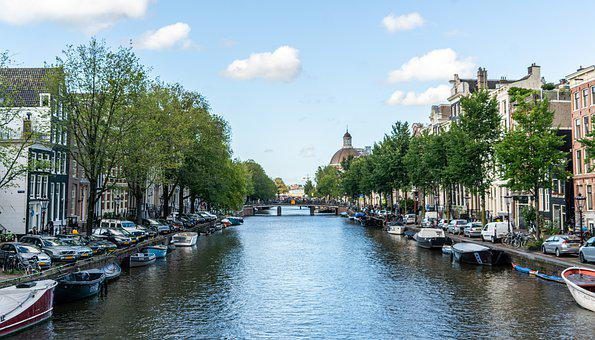Amsterdam, Canal, Boats, Architecture, Netherlands
