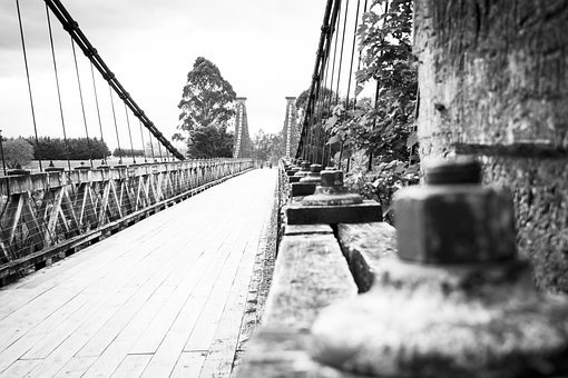 Nostalgic, History, Bridge, Crossing, Old, Vintage