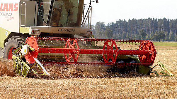 Combine Harvester, Cutting Tool, Cereals, Harvest