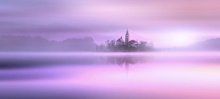 Nature, Landscape, City Of Bled, Lake Bled, Slovenia