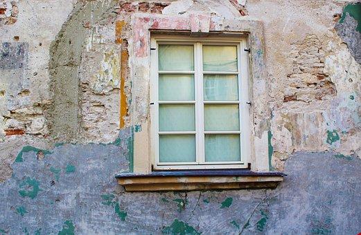 Window, Construction Work, Wall, Plaster, Site