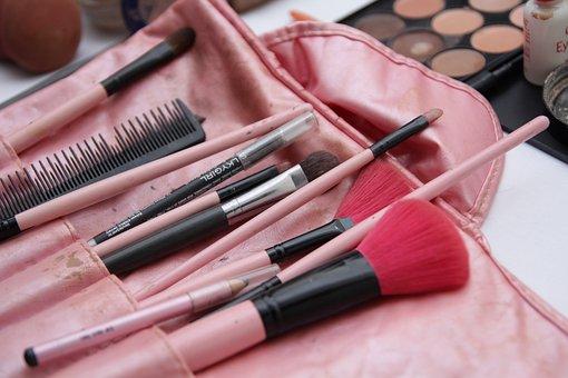Brush, Makeup, Cosmetics, Powder, Skincare, Lipstick