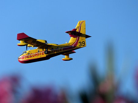 Aircraft, Canadair, Fire, Sky, Flight, Air