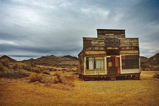 Ghost Town, Desert, Abandon, Abandoned, Old, California