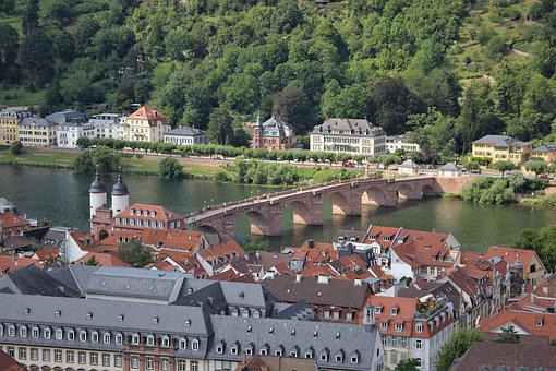 Heidelberg, Germany, View, River, Cruise, Holiday