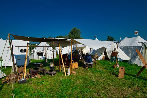 Field Camp, Viking, Tent, Middle Ages, Historically