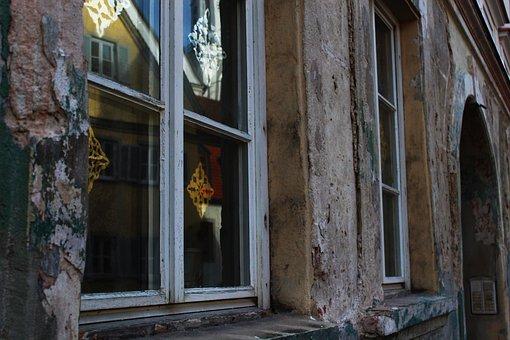 Window, Facade, Broken, Demolition House, House Facade