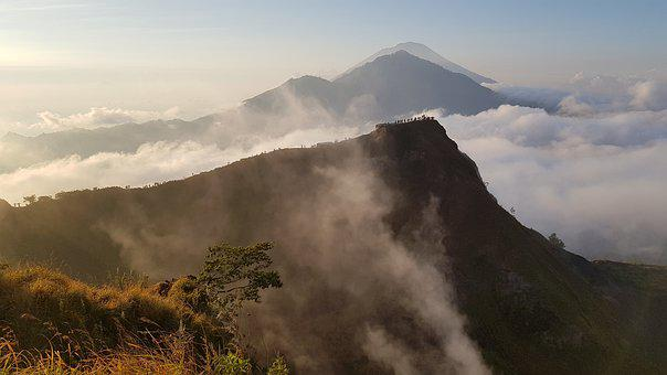 Bali, Volcano, Indonesia, Mountain, Nature